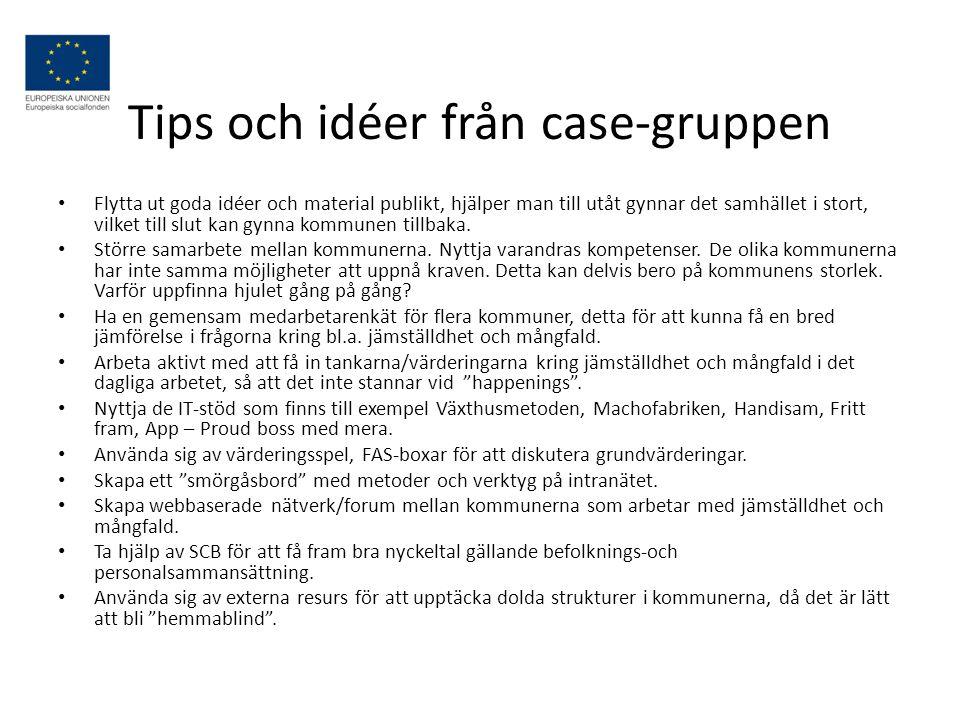 Tips och idéer från case-gruppen