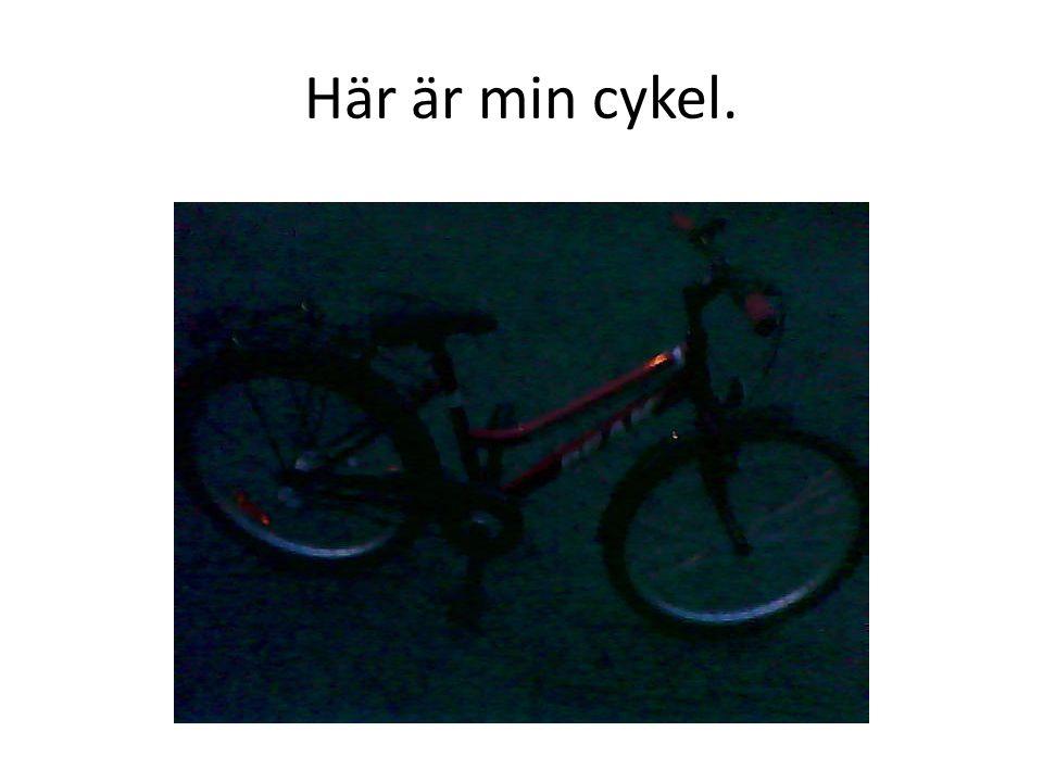 Här är min cykel.