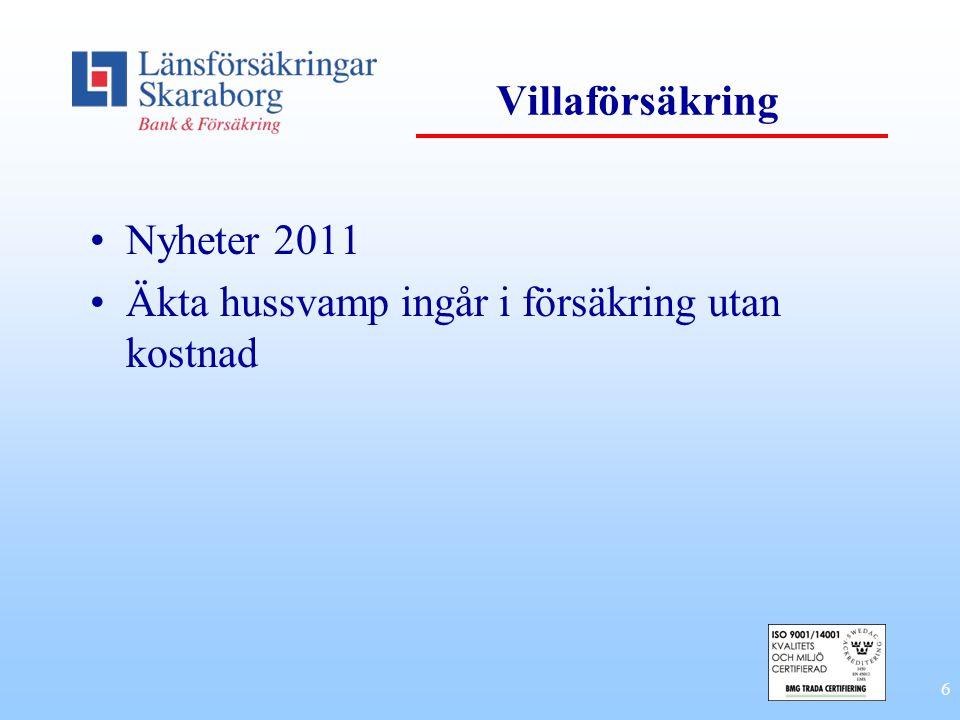 Villaförsäkring Nyheter 2011 Äkta hussvamp ingår i försäkring utan kostnad