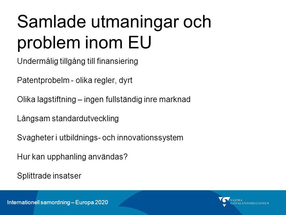 Samlade utmaningar och problem inom EU