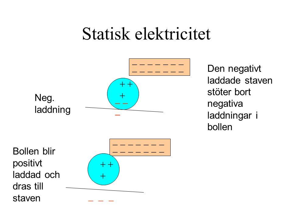 Statisk elektricitet - - - - - - -