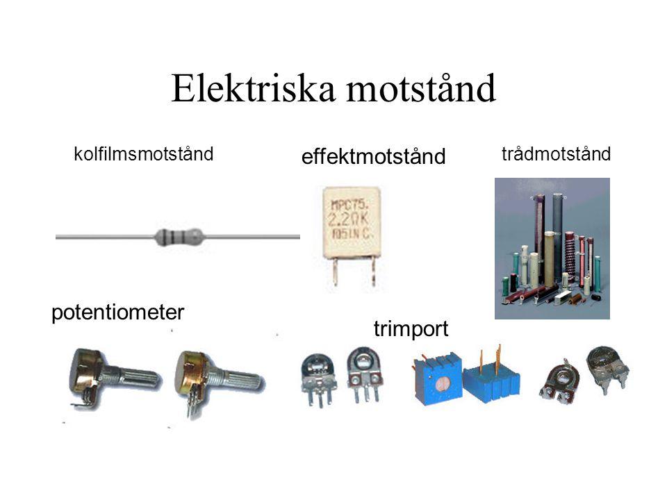 Elektriska motstånd effektmotstånd potentiometer trimport