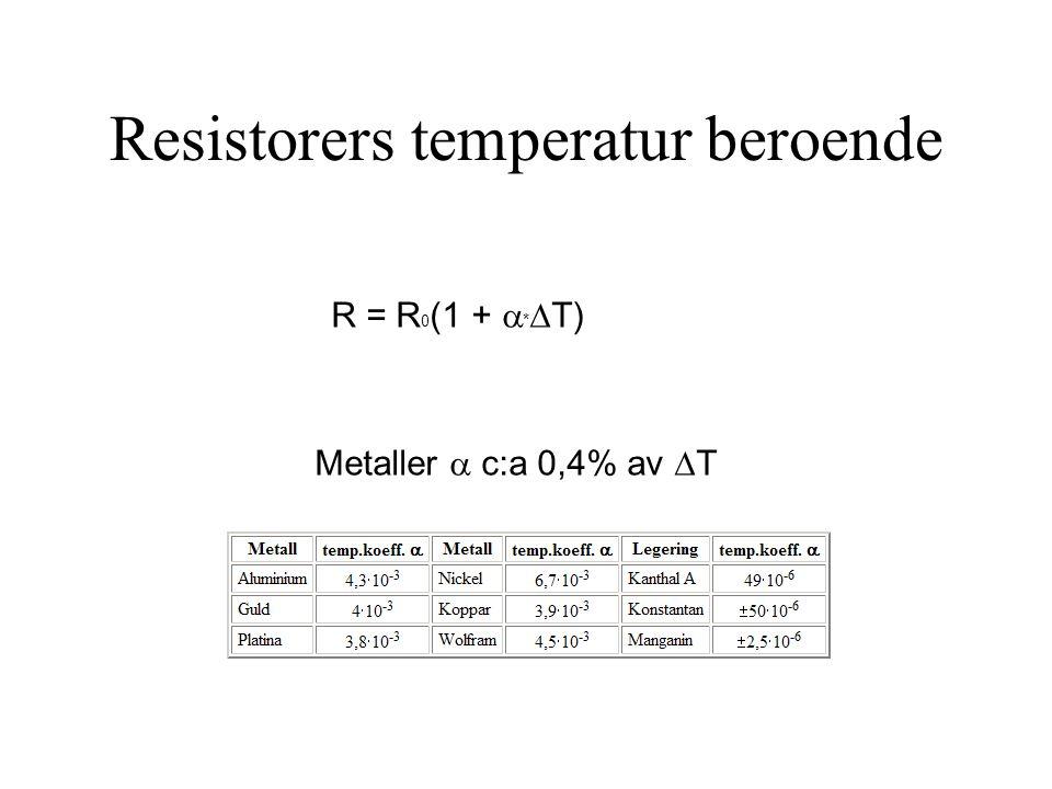 Resistorers temperatur beroende