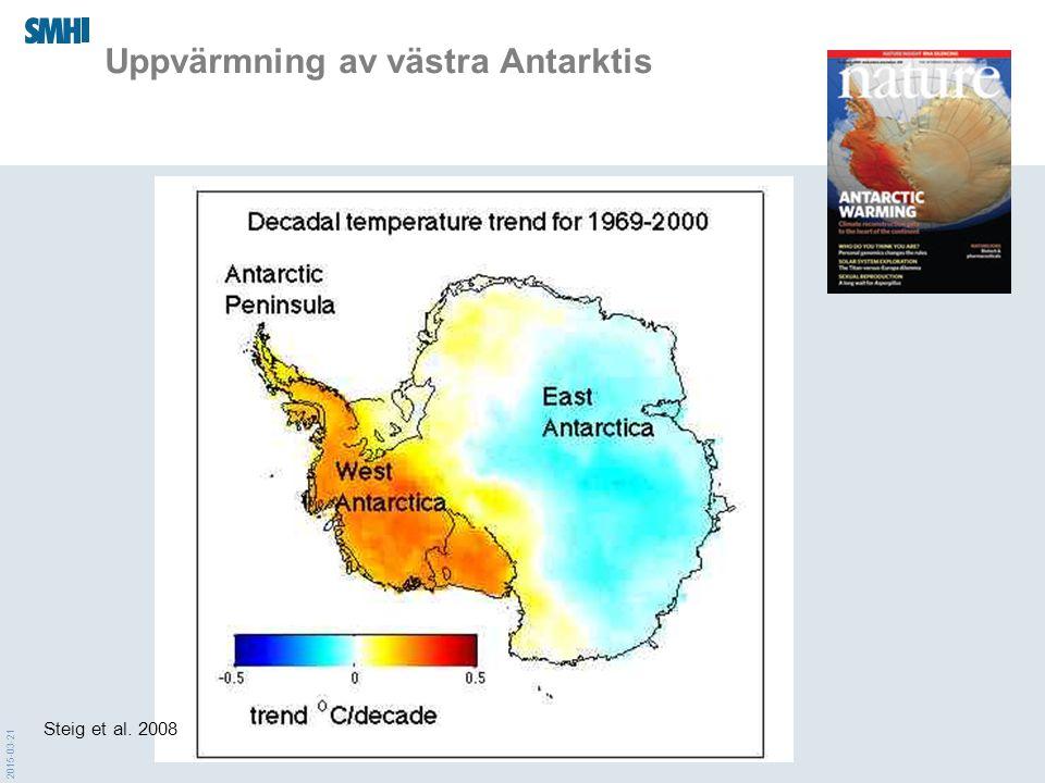 Uppvärmning av västra Antarktis