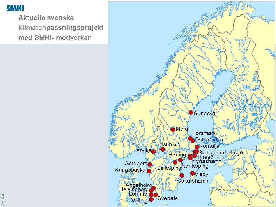 Aktuella svenska klimatanpassningsprojekt med SMHI- medverkan