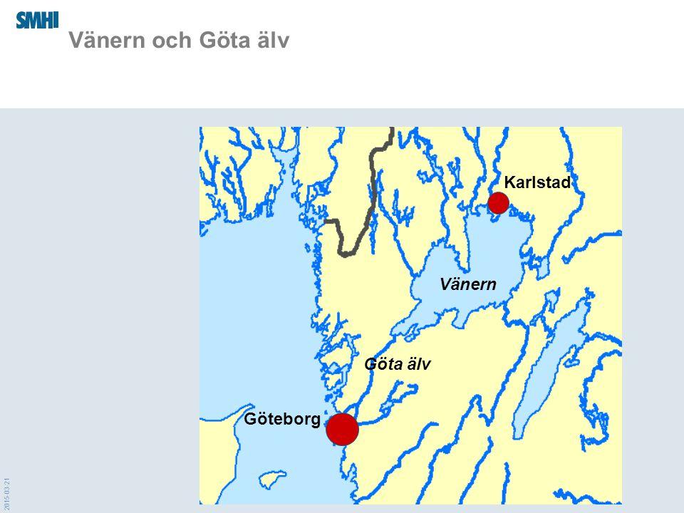 Vänern och Göta älv Karlstad Vänern Göta älv Göteborg 2017-04-08