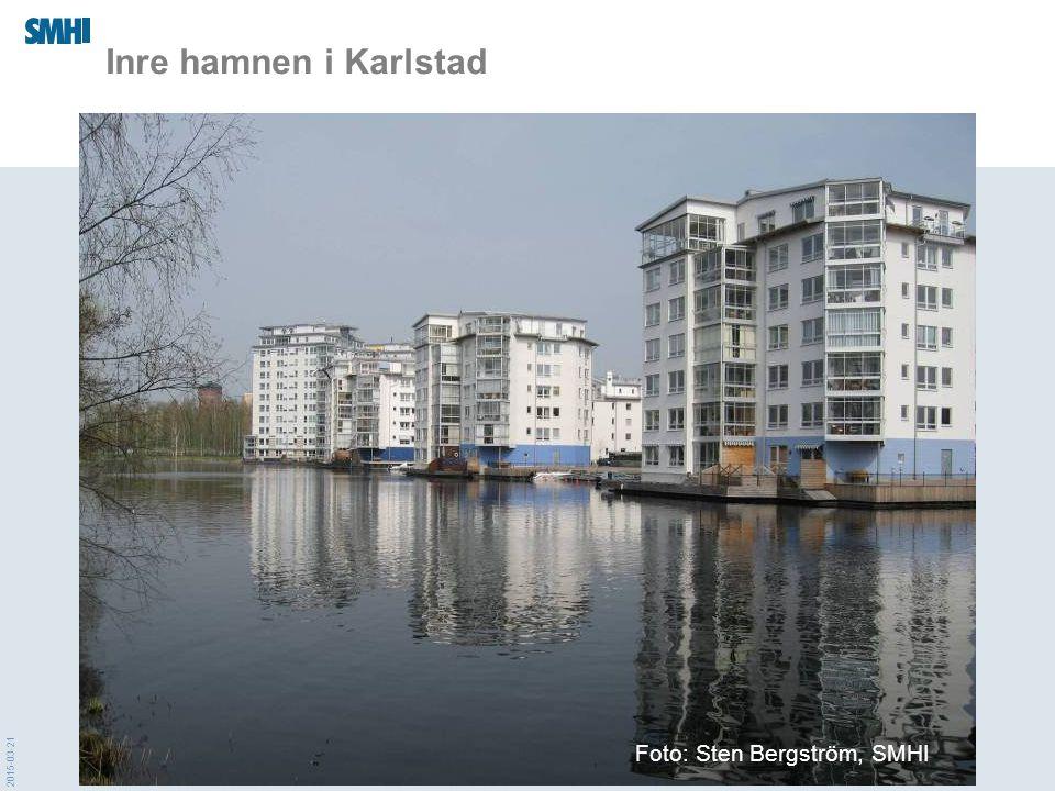 Inre hamnen i Karlstad Foto: Sten Bergström, SMHI 2017-04-08