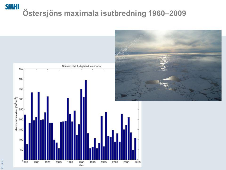 Östersjöns maximala isutbredning 1960–2009
