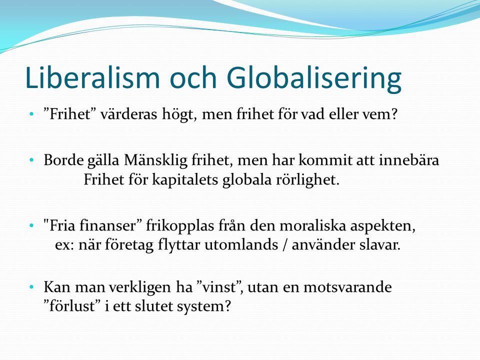 Liberalism och Globalisering