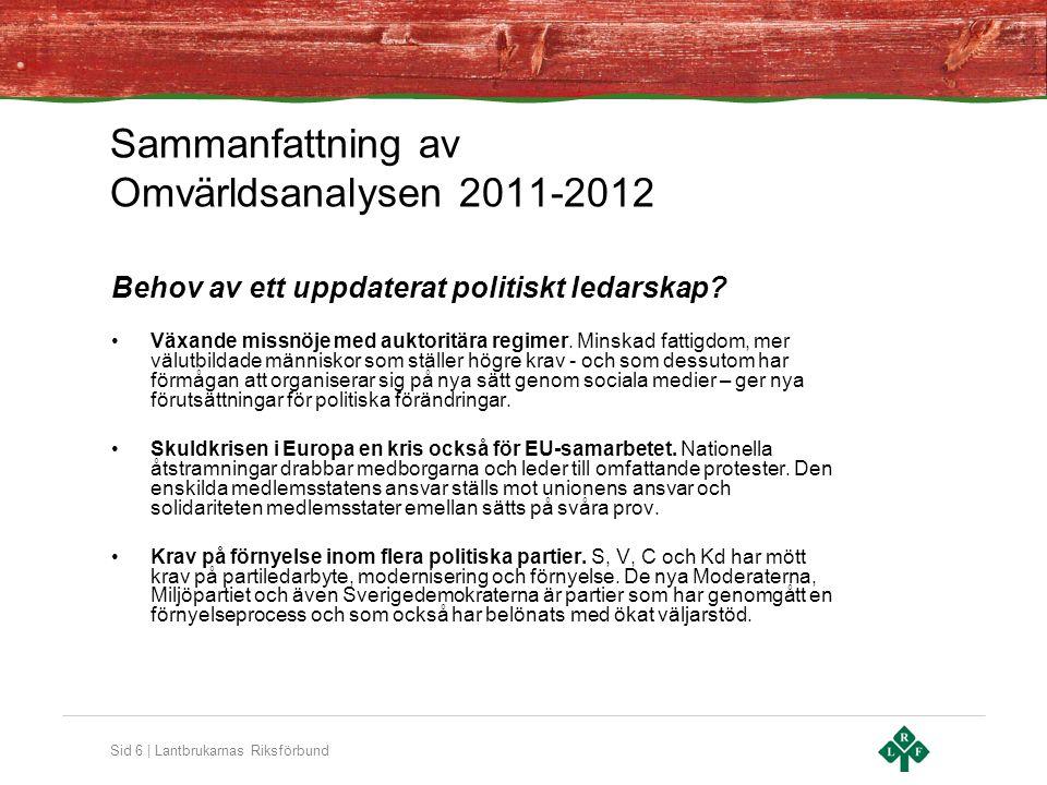Sammanfattning av Omvärldsanalysen 2011-2012
