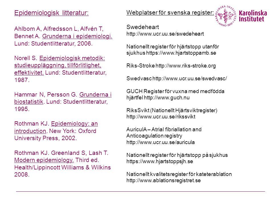 Epidemiologisk litteratur:
