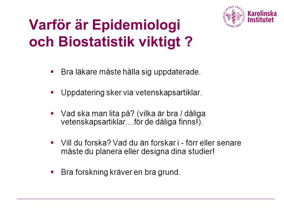 Varför är Epidemiologi och Biostatistik viktigt