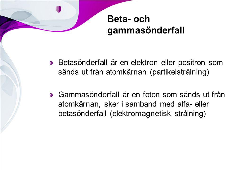 Beta- och gammasönderfall