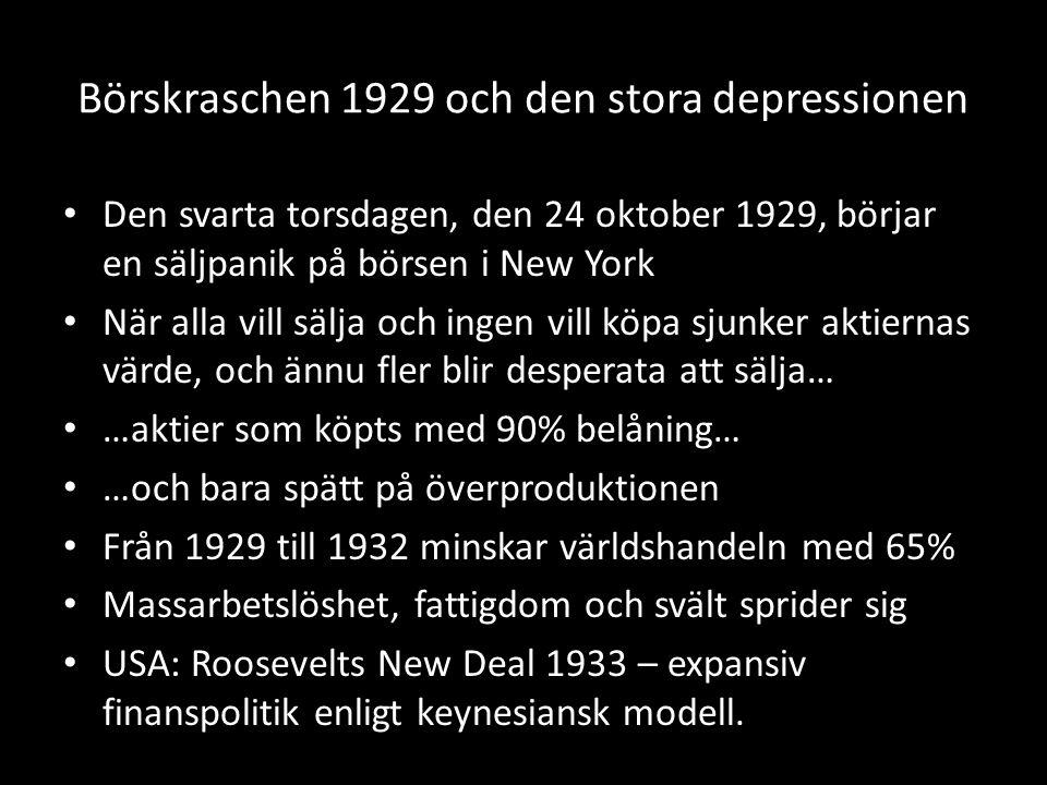 Börskraschen 1929 och den stora depressionen