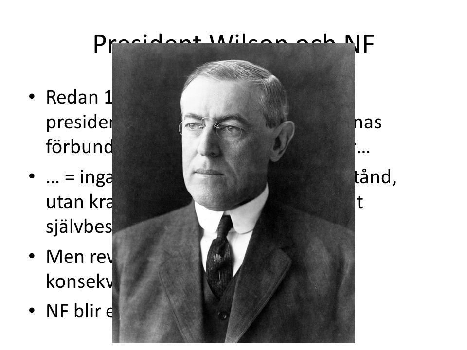 President Wilson och NF