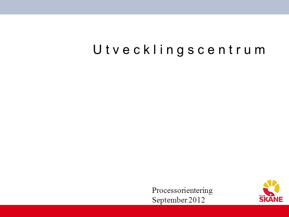 Processorientering September 2012