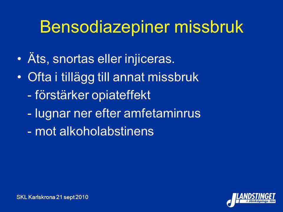 Bensodiazepiner missbruk