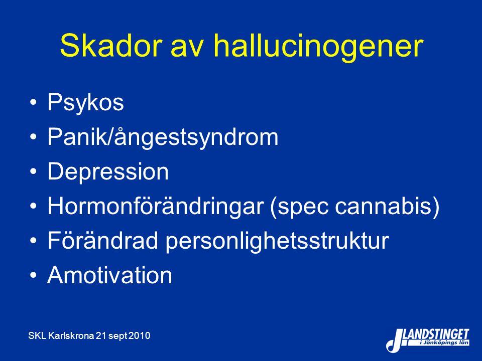 Skador av hallucinogener