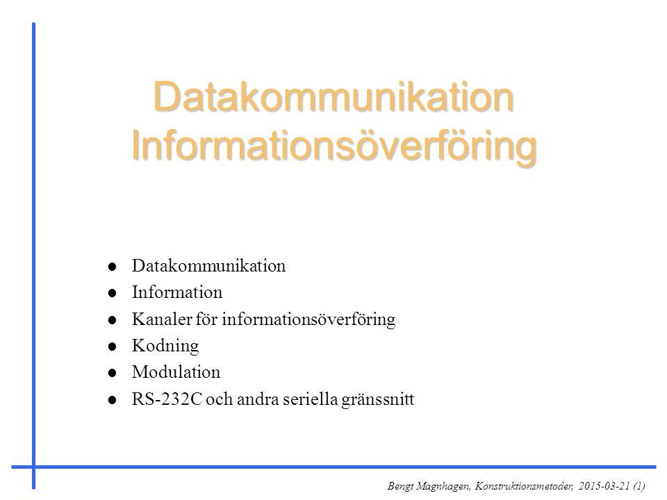 Datakommunikation Informationsöverföring