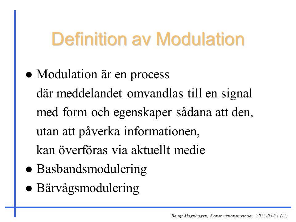 Definition av Modulation