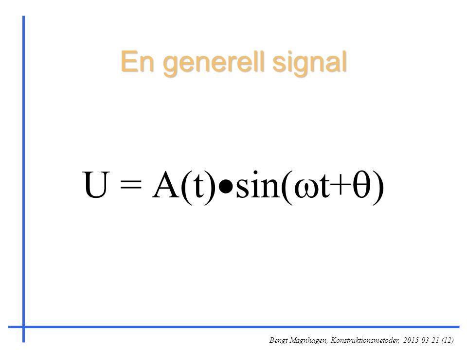 En generell signal U = A(t)sin(t+)