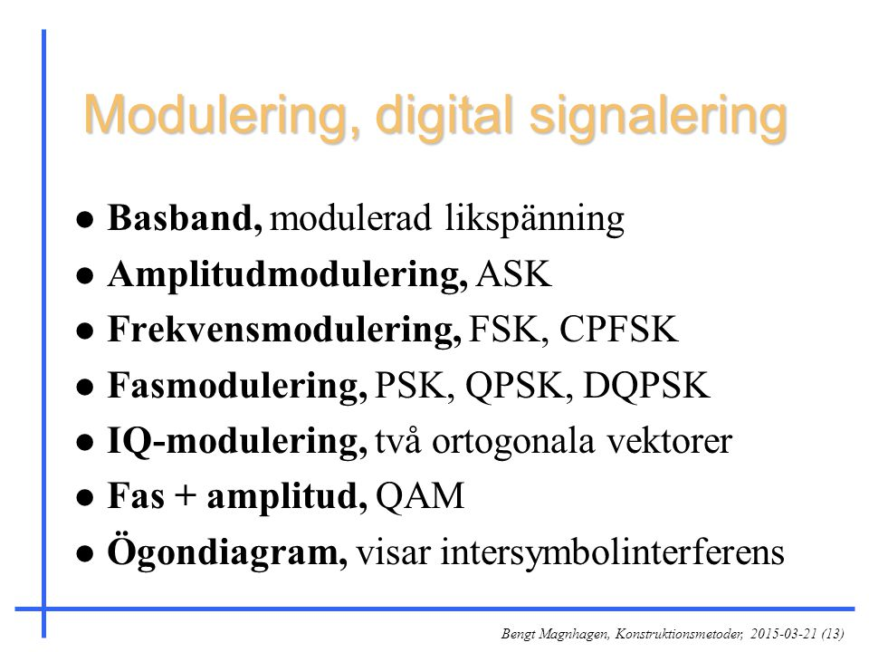 Modulering, digital signalering