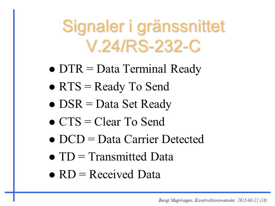 Signaler i gränssnittet V.24/RS-232-C