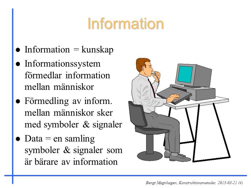 Information Information = kunskap