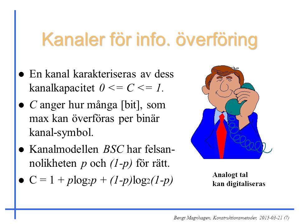 Kanaler för info. överföring