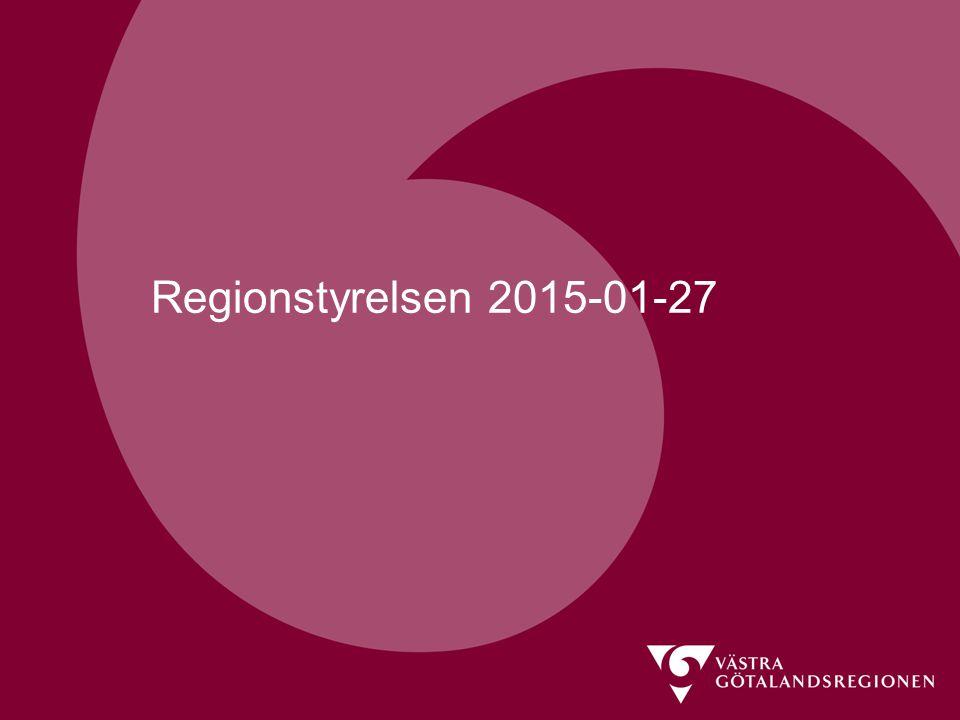 Regionstyrelsen 2015-01-27