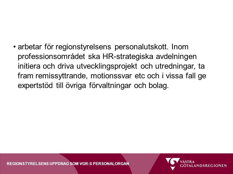 arbetar för regionstyrelsens personalutskott