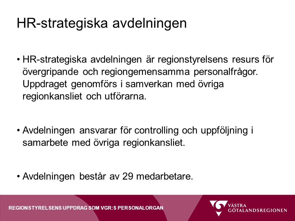 HR-strategiska avdelningen
