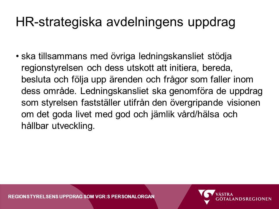 HR-strategiska avdelningens uppdrag