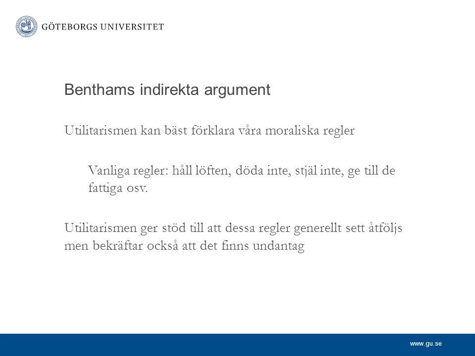Benthams indirekta argument