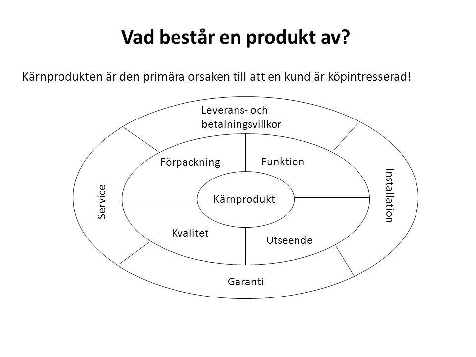 Vad består en produkt av