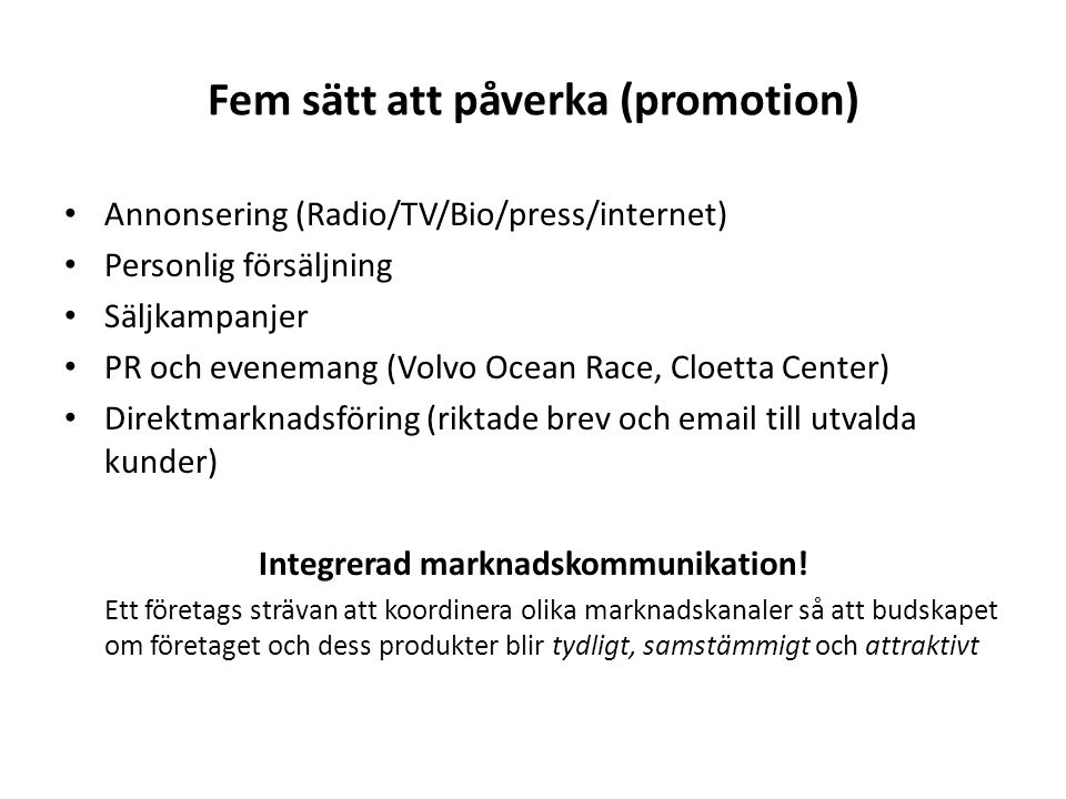 Fem sätt att påverka (promotion)