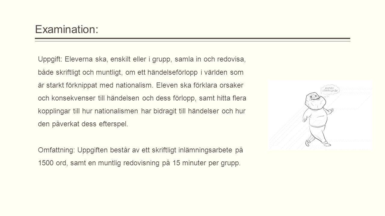 Examination: