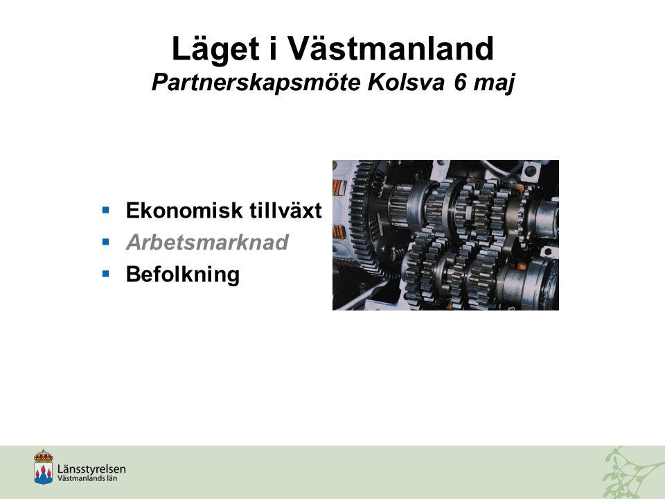 Läget i Västmanland Partnerskapsmöte Kolsva 6 maj