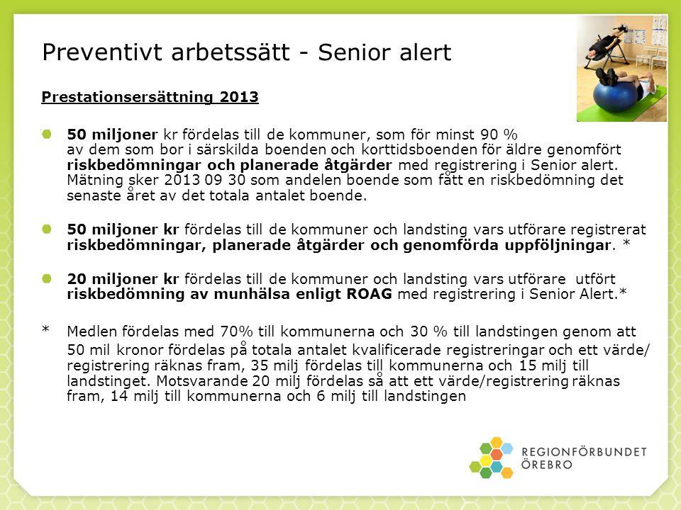 Preventivt arbetssätt - Senior alert