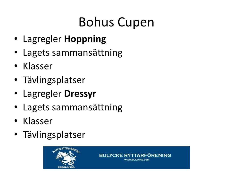 Bohus Cupen Lagregler Hoppning Lagets sammansättning Klasser