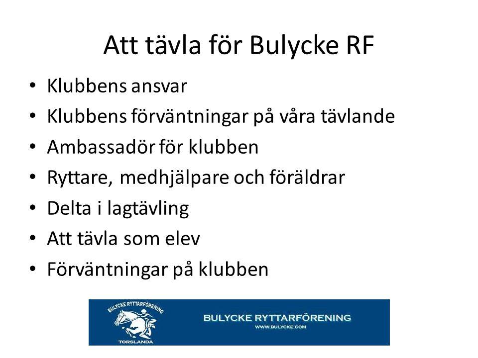 Att tävla för Bulycke RF