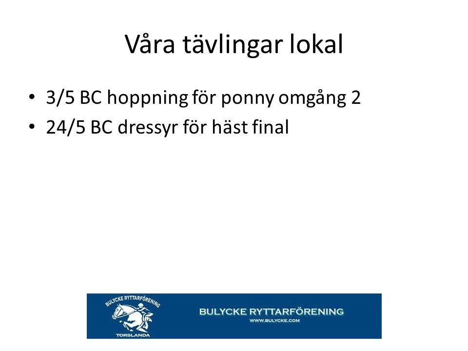 Våra tävlingar lokal 3/5 BC hoppning för ponny omgång 2