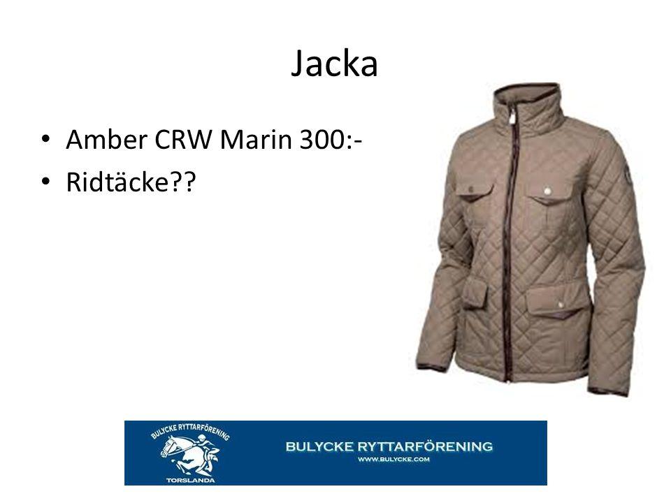 Jacka Amber CRW Marin 300:- Ridtäcke