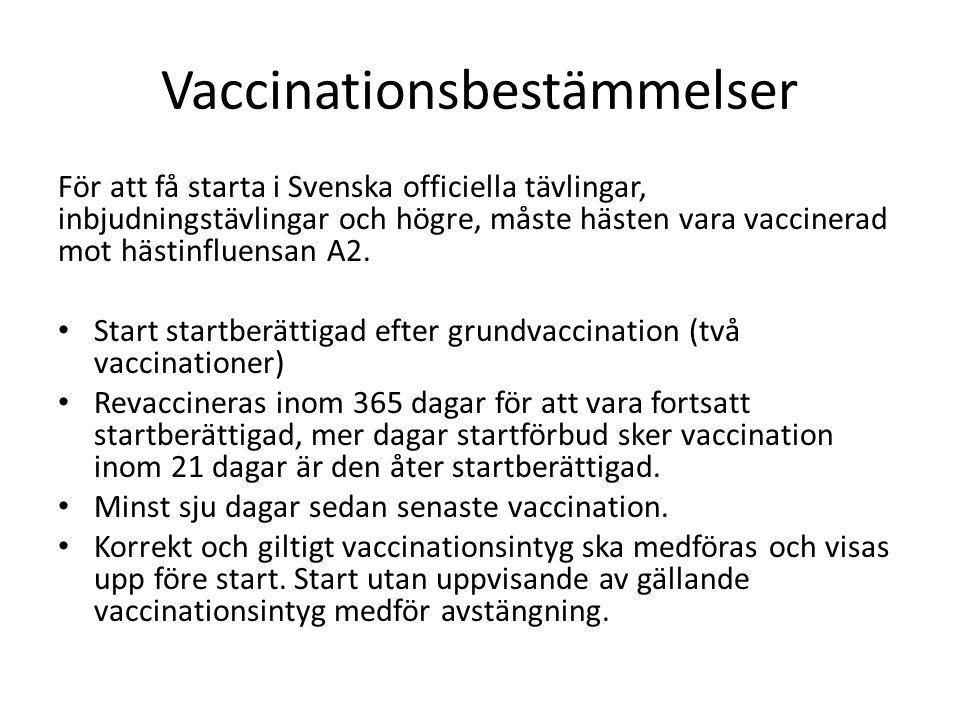 Vaccinationsbestämmelser