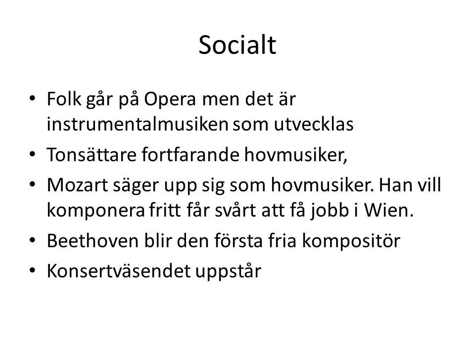 Socialt Folk går på Opera men det är instrumentalmusiken som utvecklas
