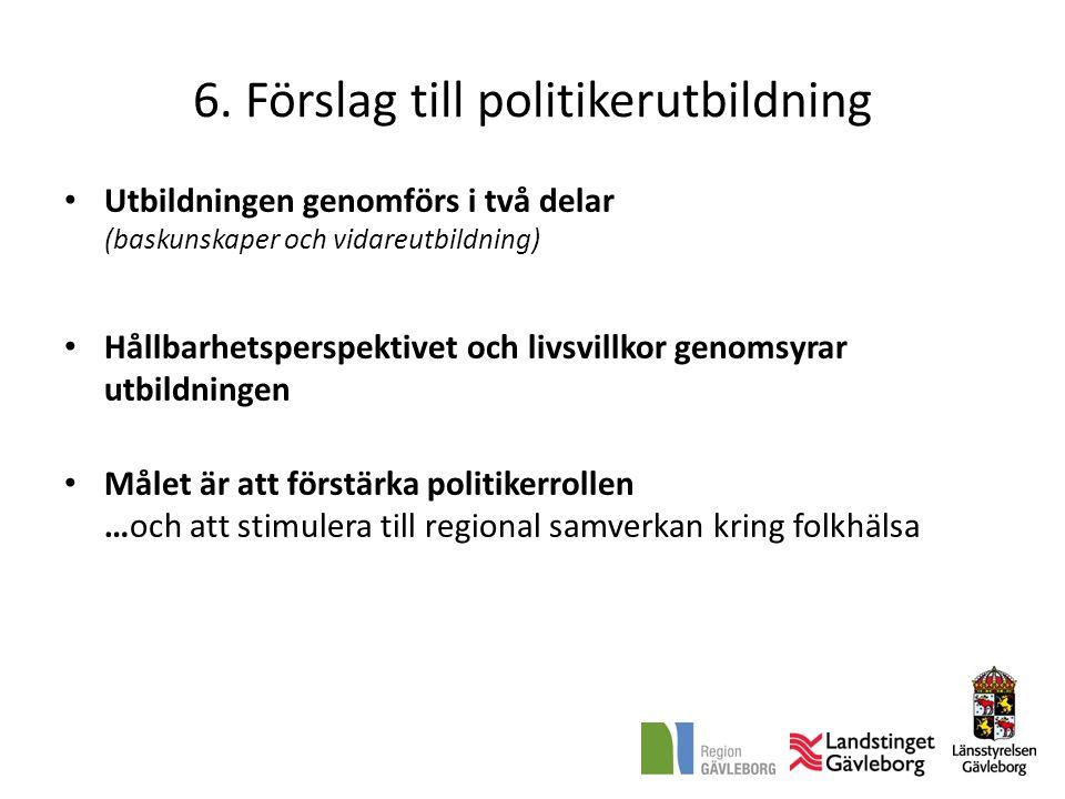 6. Förslag till politikerutbildning