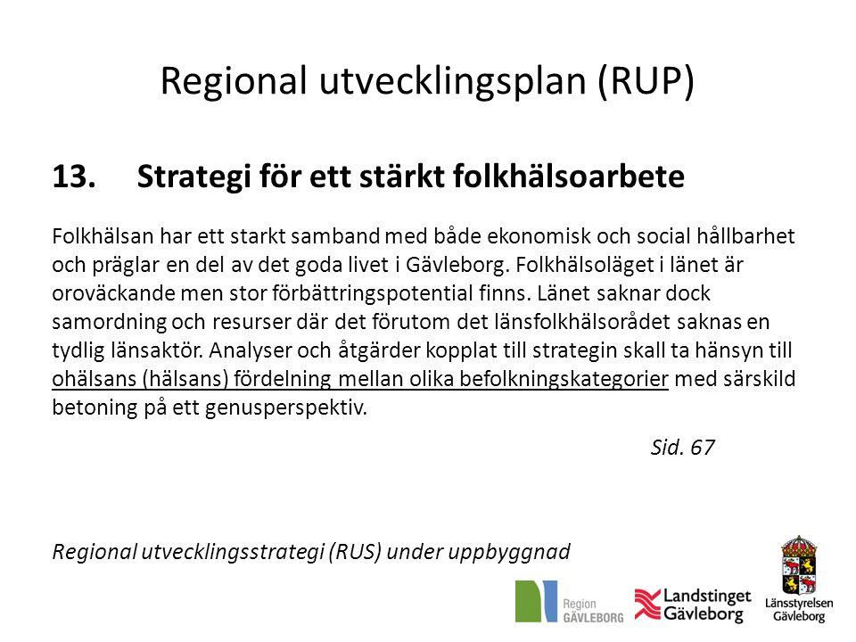 Regional utvecklingsplan (RUP)