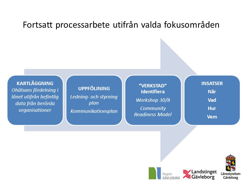 Fortsatt processarbete utifrån valda fokusområden