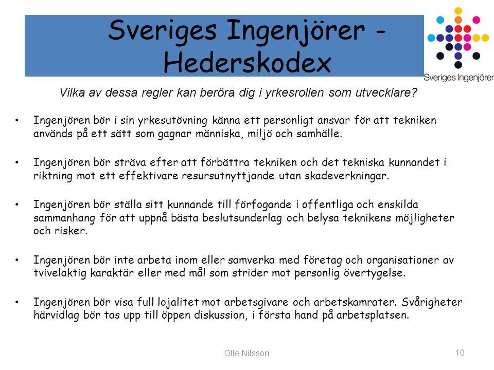 Sveriges Ingenjörer - Hederskodex