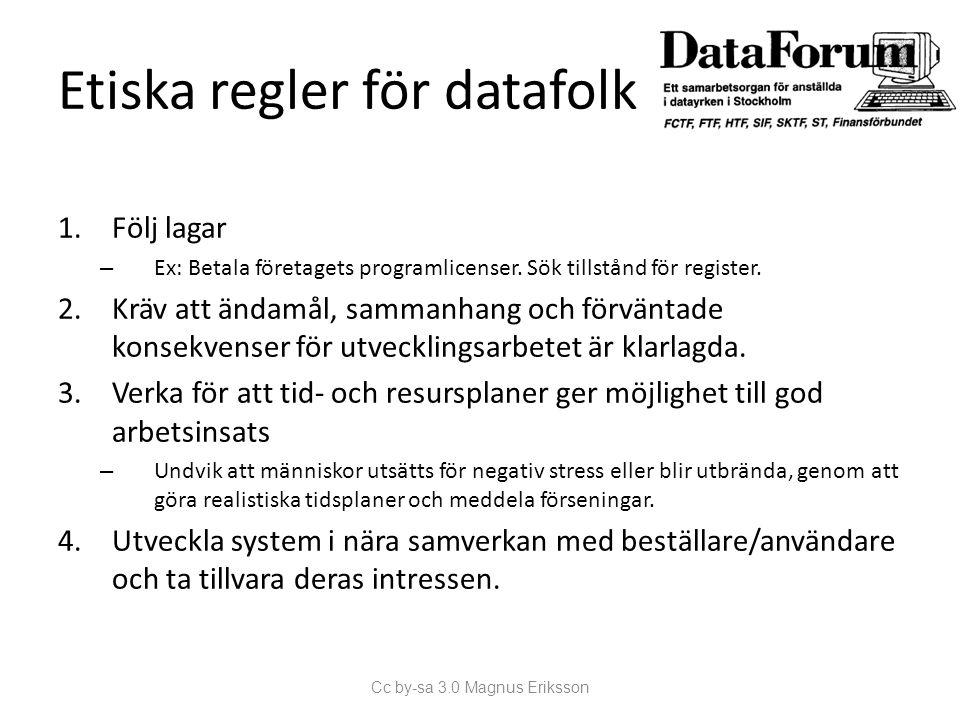 Etiska regler för datafolk